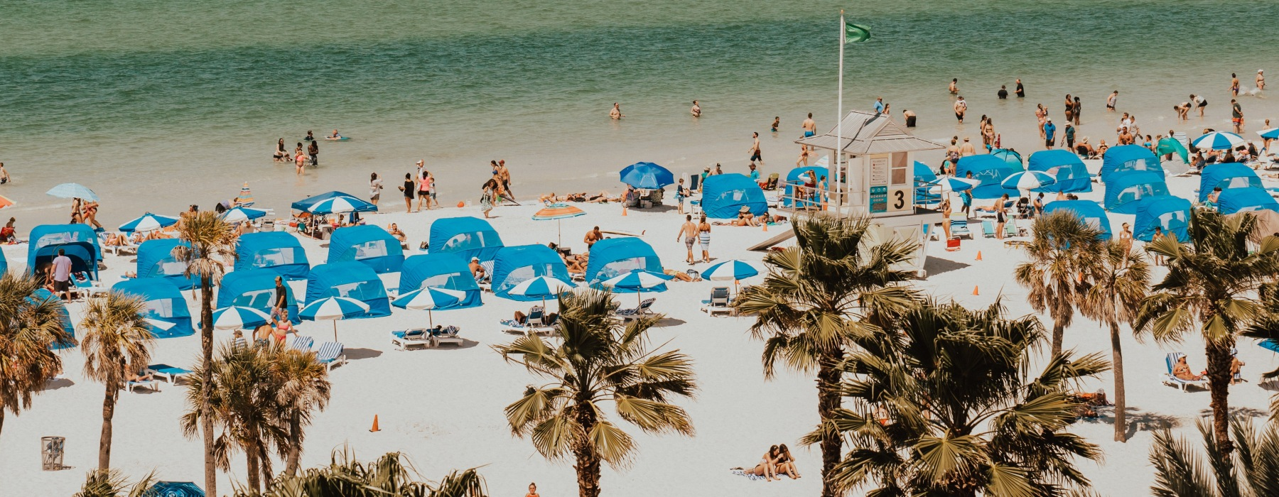 Clearwater Beach During the Day Filled with People